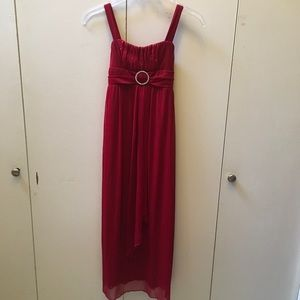 Long Red Holiday Dress (Girls' M/8-10)